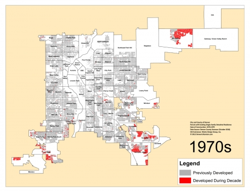 Denver's Single-Family Homes by Decade: 1970s