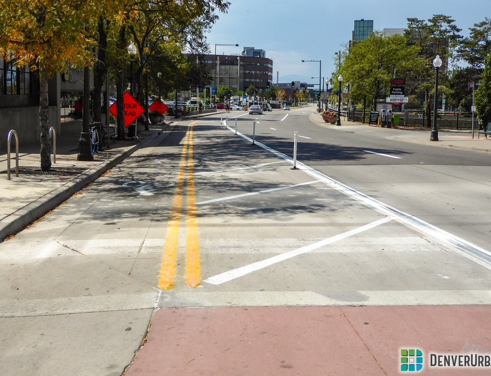 Larimer Between 14th and Auraria Campus Receives Bike-Ped Upgrades